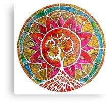 Tree of Life Mandala Metal Print