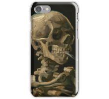 Skull With Cigarette by Vincent van Gogh iPhone Case/Skin