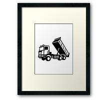 Dump truck tipper Framed Print