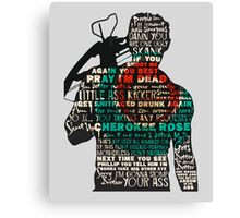 The Walking Dead - Daryl Silhouette Quotes Canvas Print