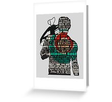 The Walking Dead - Daryl Silhouette Quotes Greeting Card