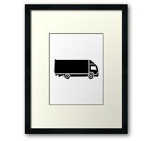 Truck logo Framed Print