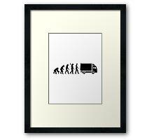 Evolution truck Framed Print