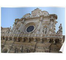View of Basilica di Santa Croce Poster