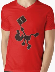 Mr. Game & Watch Mens V-Neck T-Shirt