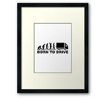 Evolution born to drive truck Framed Print