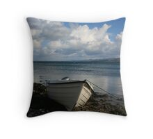 """""""Moelfre Beach"""" Throw Pillow"""