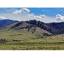 Tocile, country hill landscape from Sadu, Sibiu county, Romania Photographic Print