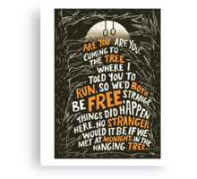Hunger Games - The Hanging Tree Song Canvas Print
