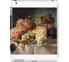Still life with grapes in a porcelain dish (c. 1850 Austria) by Colnaghi iPad Case/Skin