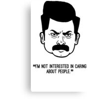 Ron Swanson with quote 4 Canvas Print