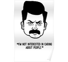 Ron Swanson with quote 4 Poster