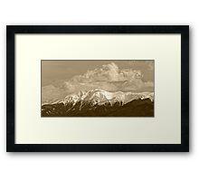 Fagaras mountains Romania, Carpathian Mountains Framed Print