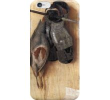 Still-Life with Partridge and Gauntlets (1540) by Jacopo de' Barbari iPhone Case/Skin