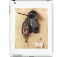 Still-Life with Partridge and Gauntlets (1540) by Jacopo de' Barbari iPad Case/Skin