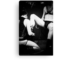 Bootblack - Anonymous Service in Black and White Canvas Print