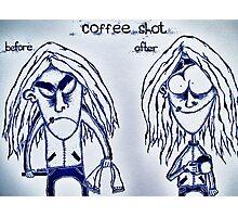 Coffee shot Photographic Print