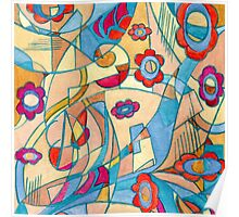Handcrafted abstraction picture Poster