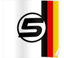 Vettel 5 - Helmet design Poster