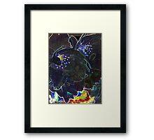 Black Blossoms Framed Print
