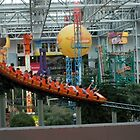 Mall of American ~ Nickelodeon Universe rollercoaster by Diane Trummer Sullivan