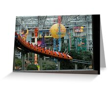 Mall of American ~ Nickelodeon Universe rollercoaster Greeting Card