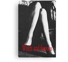 Witch and Famous Retro Fashion  Canvas Print