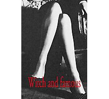 Witch and Famous Retro Fashion  Photographic Print