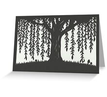 Print of handcut willow tree papercutting Greeting Card