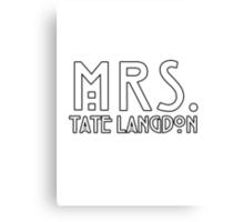 mrs. tate Canvas Print