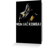 Scorpion - Mortal Kombat Greeting Card
