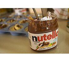 JK Rowling in a Pot of Nutella Photographic Print