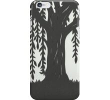Print of handcut willow tree papercutting iPhone Case/Skin