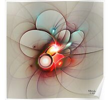 'Light Flame Abstract 036' Poster