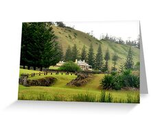 Norfolk Island towards Quality Row Greeting Card