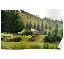 Norfolk Island towards Quality Row Poster