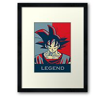 goku-the legend Framed Print