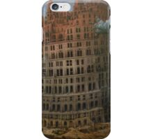 The Construction of the Tower of Babel (The  little Tower of Babel) Pieter Bruegel the Elder, c. 1563 iPhone Case/Skin