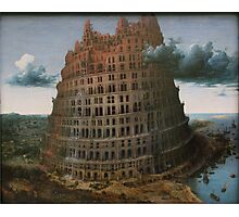 The Construction of the Tower of Babel (The  little Tower of Babel) Pieter Bruegel the Elder, c. 1563 Photographic Print