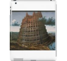 The Construction of the Tower of Babel (The  little Tower of Babel) Pieter Bruegel the Elder, c. 1563 iPad Case/Skin