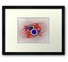 'Light Flame Abstract 056' Framed Print