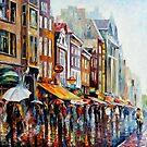 Amsterdam Rain — Buy Now Link - www.etsy.com/listing/128109256 by Leonid  Afremov