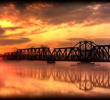 Bridge at Sunset by steini