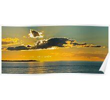 Sunset over Hervey Bay Australia Poster