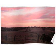 Sunset over Arthurs Creek  Poster