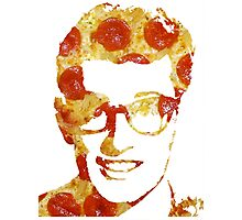 Pizza Buddy Holly Photographic Print