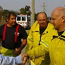 My Brother peter the firefighter with Australian prime minister  by catherine walker