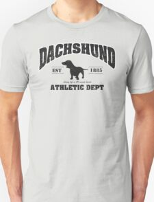 Dachshund Athletic Dept Unisex T-Shirt