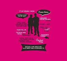 Stargate SG-1 - Sam & Jack quotes (Pink/White design - iPhone cover) by angiesdesigns