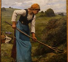 The Harvester by Julien Dupre, c. 1880-1881 by Adam Asar